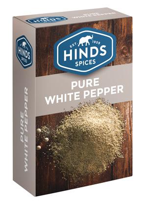 Pure White Pepper box - Angled view