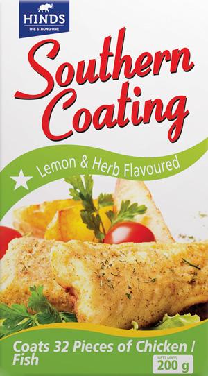 200g Southern Coating Lemon & Herb -  angled_ Shot