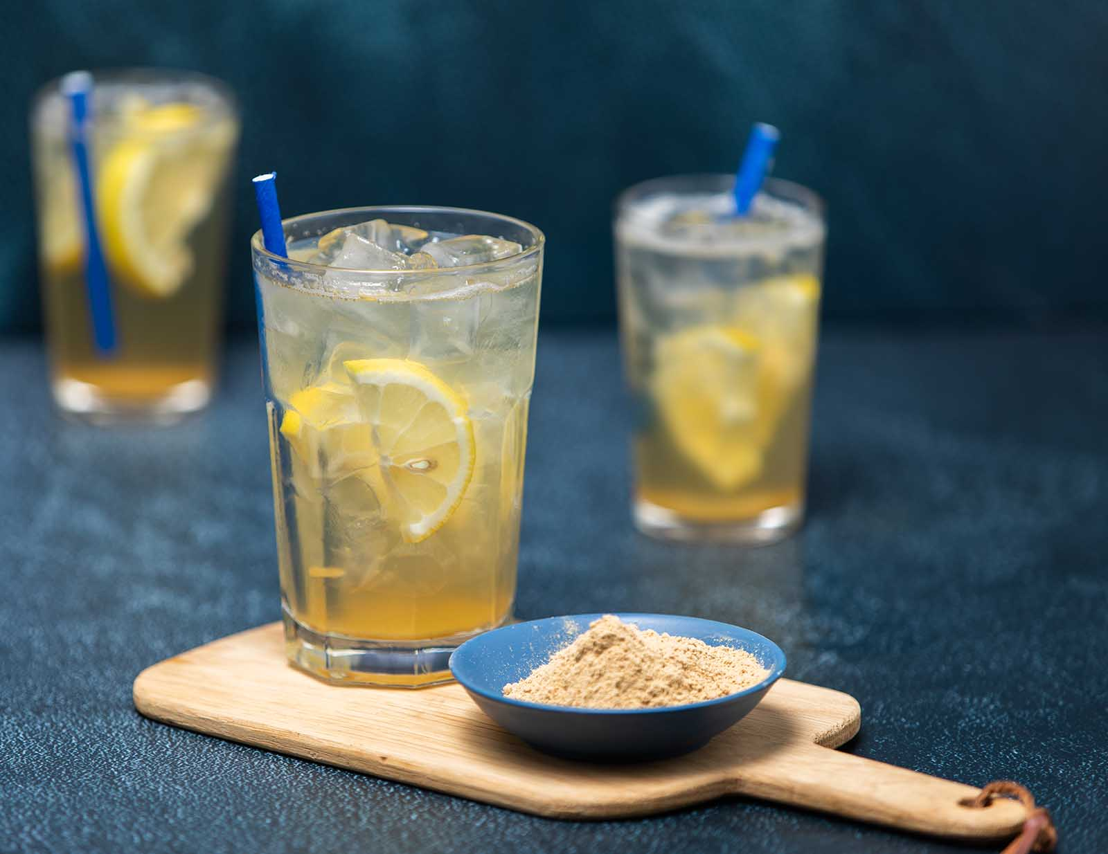 Fizzy non-alcoholic Gingerbeer