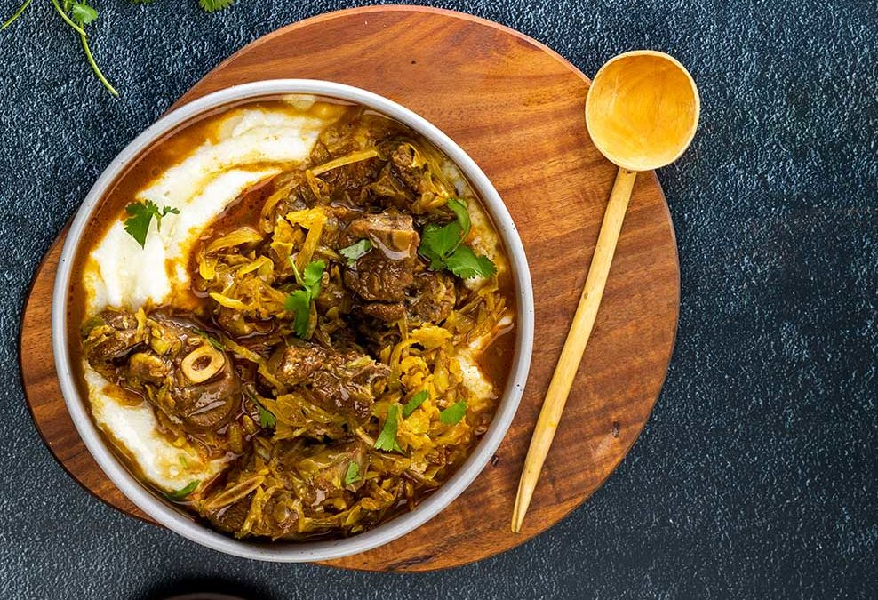 Goat and Cabbage Curry with Pap Recipe