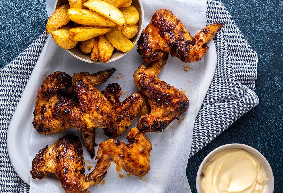 Recipe for Portuguese Chicken Wings and Wedges