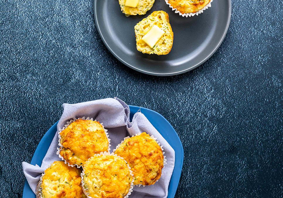 Recipe for Savory Muffins with Chedder