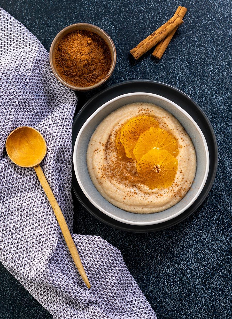 Sweet Breakfast Mazi Porridge with Cinnamon