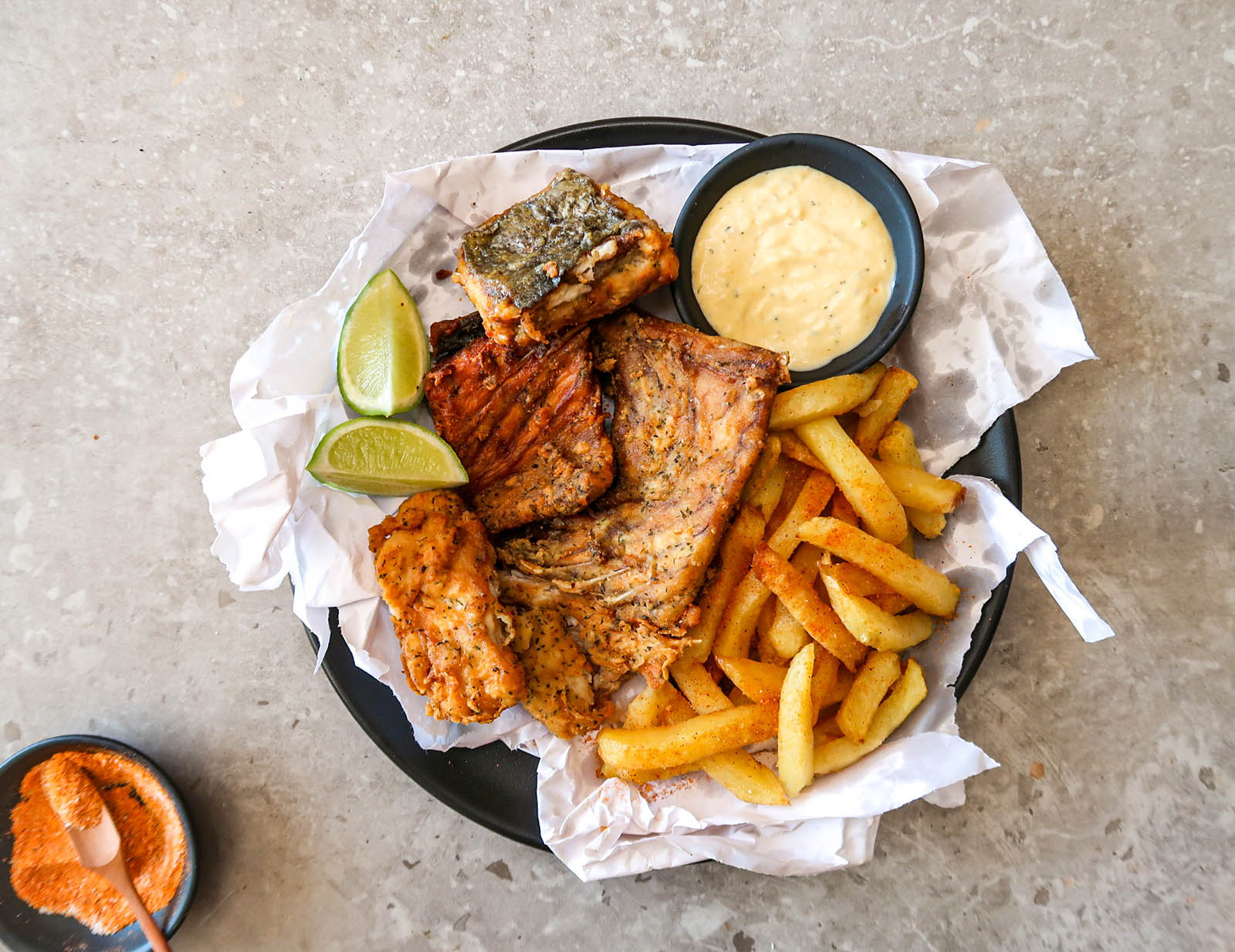Battered Fried Fish and chips